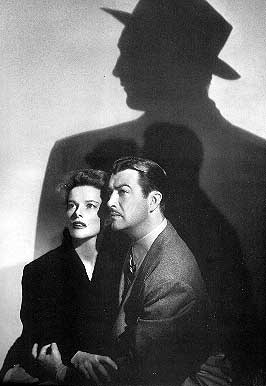 Hepburn and Taylor in the shadow of Mitchum