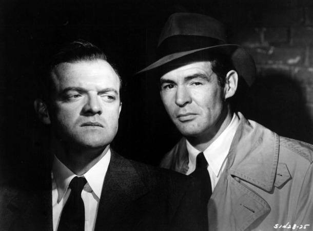 Van Heflin and Robert Ryan